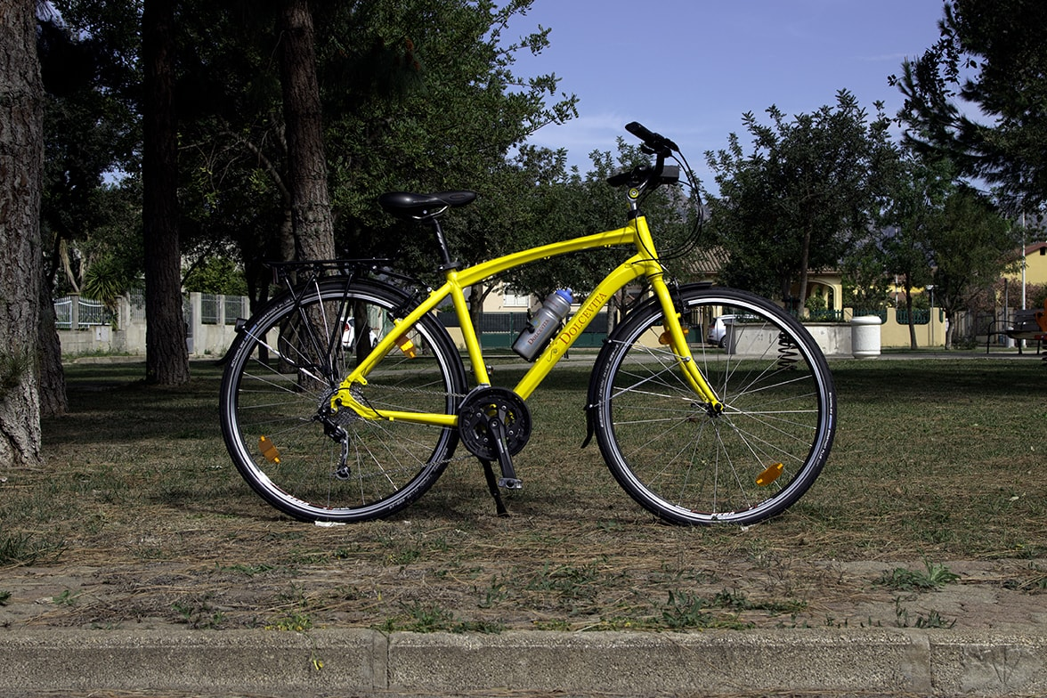 Yellow Trekking comfort bike