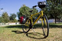 Trekking Comfort bike for hire - Front view
