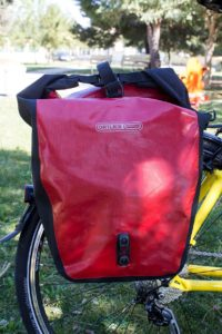 ORTLIEB, guaranteed waterproof panniers upon request for rental