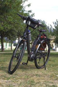 e-bike scott 2018 for rental in Sardinia front view