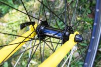 Shimano Deore rims on trekking comfort bike for hire