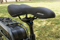 Cube e-bike for hire: comfortable saddle