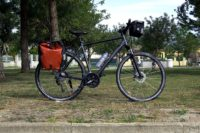 Trekking Bike Cube with pannier and handl